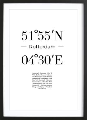 Rotterdam ingelijste print