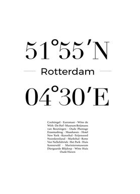 Rotterdam canvas doek