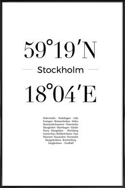 Stockholm -Bild mit Kunststoffrahmen