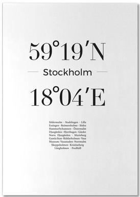 Stockholm bloc-notes