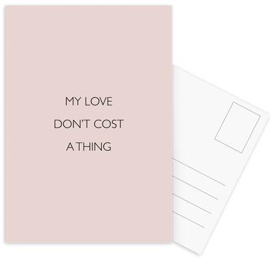 My Love Don't Cost a Thing -Postkartenset