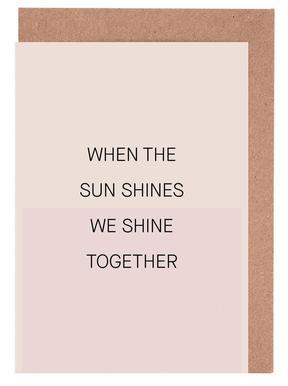 When the Sun Shines 01 -Grußkarten-Set