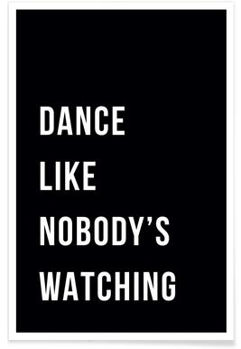 Dance - Black affiche