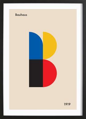 B for Bauhaus Framed Print