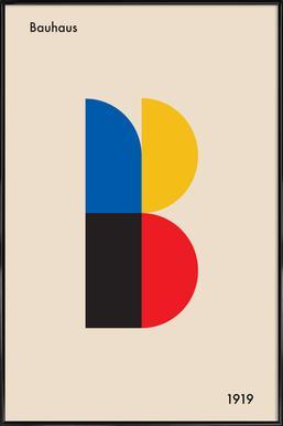 B for Bauhaus Framed Poster