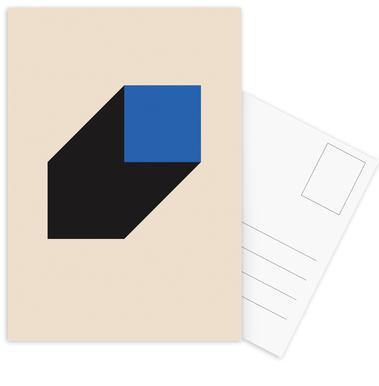 Geometric Projection Postcard Set