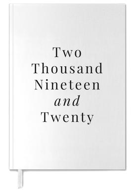 Two Thousand Nineteen/ Two Thousand Twenty White & Black Personal Planner