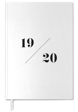 2019/ 2020 White & Black Personal Planner