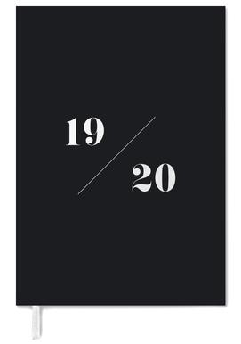 2019/ 2020 Black & White -Terminplaner