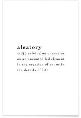 Aleatory - Premium Poster