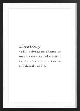 Aleatory - Poster in Wooden Frame