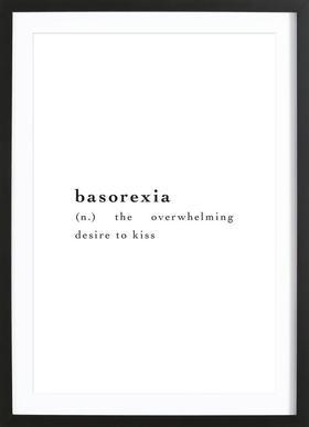 Basorexia - Poster in houten lijst