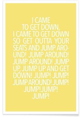 Jump Yellow - Poster