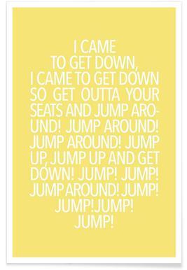 Jump Yellow - Premium Poster