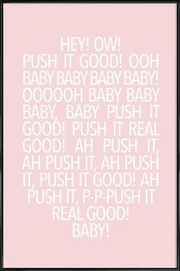 Real Good Pink Framed Poster