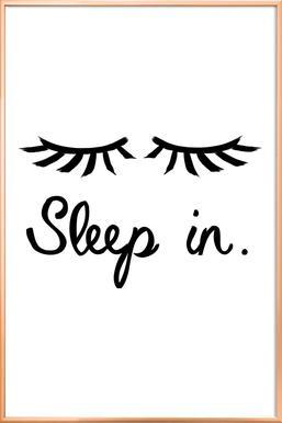 Sleep In Poster in Aluminium Frame