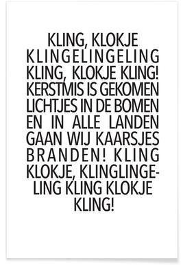Kling, Klokje -Poster