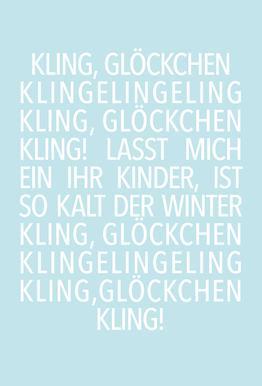 Kling Glöckchen Blue -Alubild