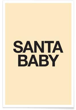 Santa Baby Yellow -Poster
