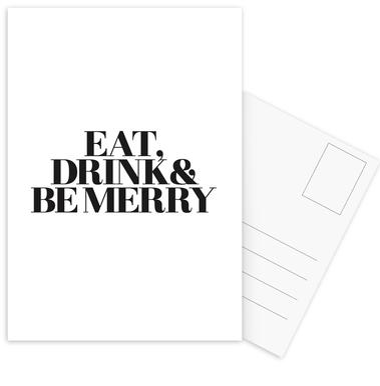 Eat, Drink & Be Merry ansichtkaartenset