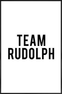 Team Rudolph Framed Poster