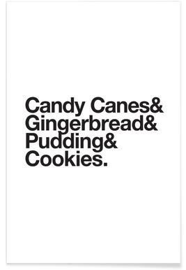 Candy Canes & Cookies -Poster