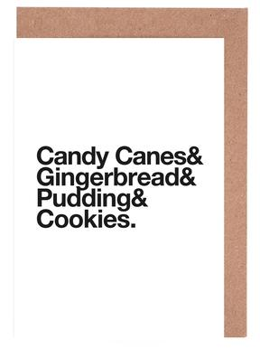 Candy Canes & Cookies Greeting Card Set