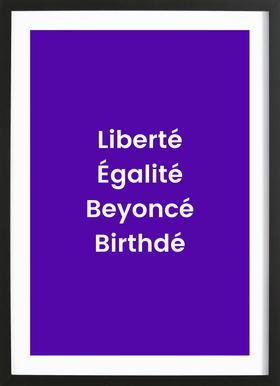 Birthdé ingelijste print