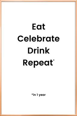 Celebration Rotation poster in aluminium lijst