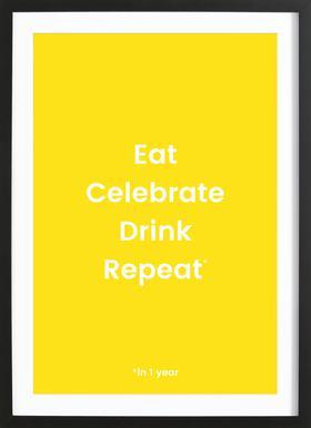 Celebration Rotation 2 ingelijste print