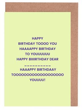 Happy Birthday to You cartes de vœux