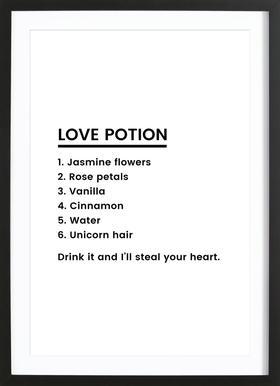 Love Potion Recipe Framed Print