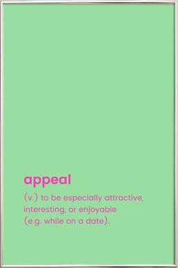 Appeal Poster in Aluminium Frame