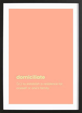 Domiciliate -Bild mit Holzrahmen