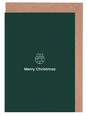 Merry Christmas wenskaartenset