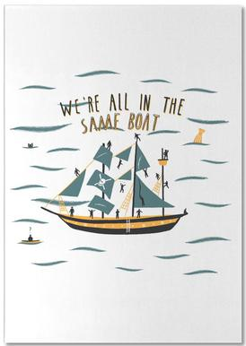 All in the Same Boat Notepad