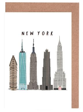 New York Buildings Greeting Card Set