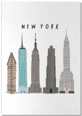 New York Buildings Notepad