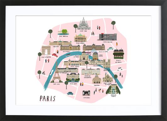 Paris Map Framed Print