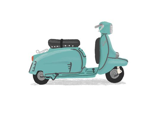 Scooter -Leinwandbild