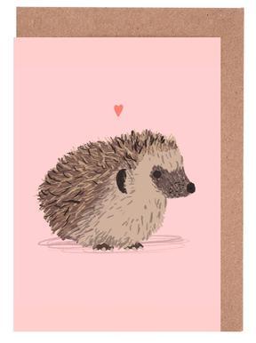 Hedgehog -Grußkarten-Set