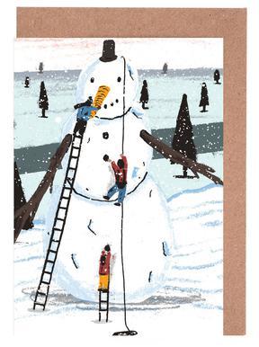 Snowman cartes de vœux