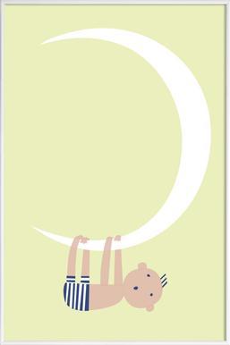Baby on the Moon - Poster im Kunststoffrahmen