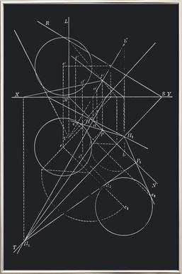 Compasses -Poster im Alurahmen
