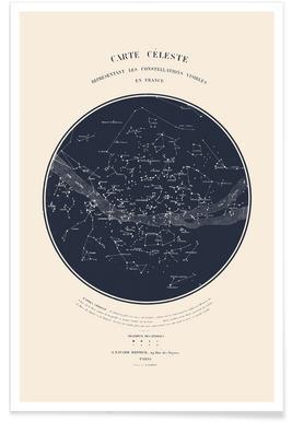 Carte du Ciel poster
