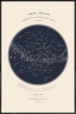 Carte du Ciel -Bild mit Kunststoffrahmen