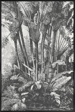 Palms in Water ingelijste poster