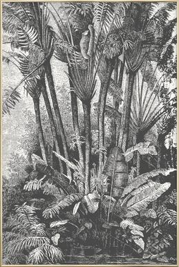 Palms in Water poster in aluminium lijst