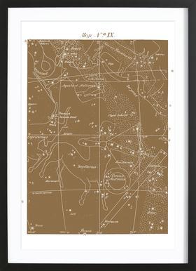 Sagittarius Gold - Poster in Wooden Frame