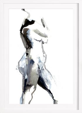 Nude 2 - Poster in Wooden Frame